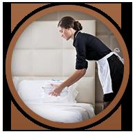 Szállodai vendégszobák és vendégterek takarítása